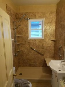New shower and wall tiles