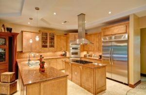 Kitchen with updated wood cabinetry